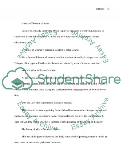 WHY ARE NOT MEN MORE INTERESTED IN CHILD CARE essay example