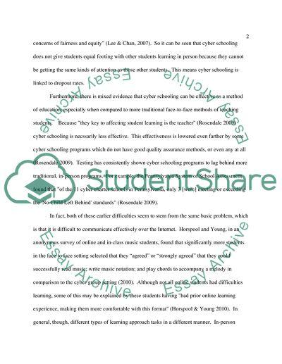 Cyber Schooling in Education