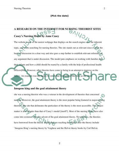 Nursing Theory Website Paper