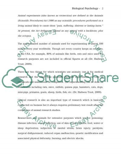Biological psychology essay essay example