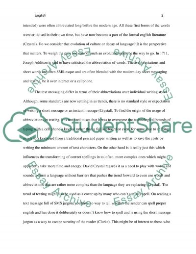 Do IM and SMS contribute to decay of language? Essay example