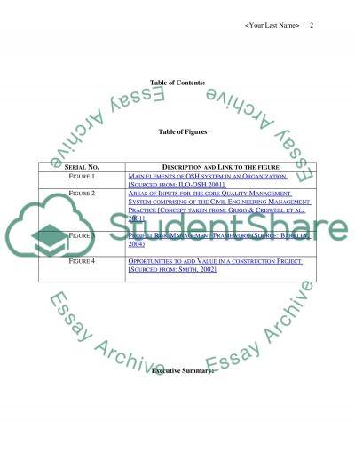 Management Portfolio in Civil Engineering