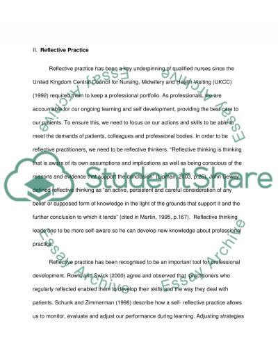 REFELCTIVE ANALYSIS PROFESSIONAL DEVELOPMENT essay example