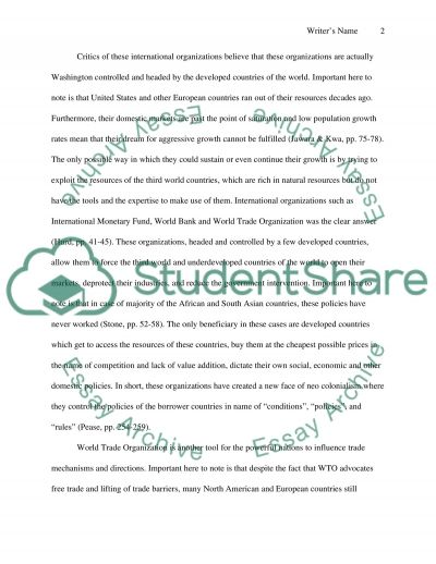Global Organizations and Nation States Essay example