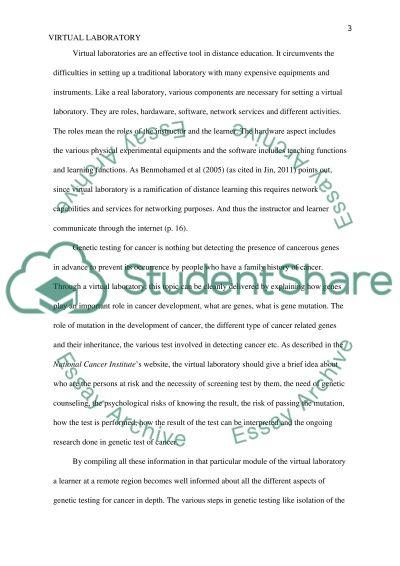 Virtual Laboratory essay example