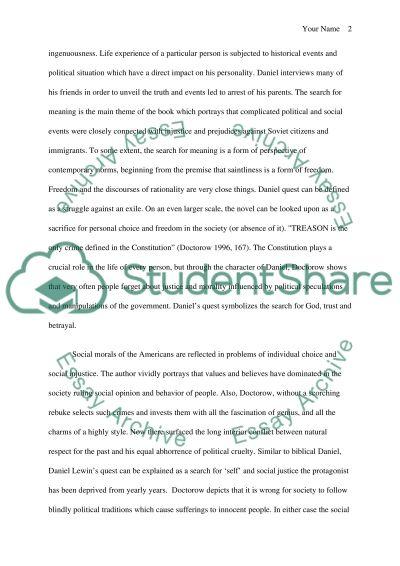 Daniels Quest essay example
