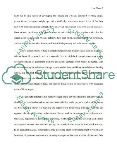 The Benefits Of Learning English Essay Type Two Diabetes The Yellow Wallpaper Analysis Essay also Barack Obama Essay Paper Type Two Diabetes Essay Example  Topics And Well Written Essays  How To Write A Thesis Sentence For An Essay