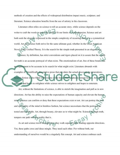 The Paths of Art and Science essay example