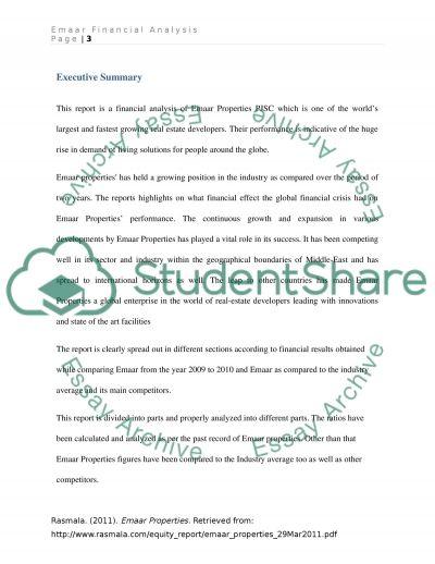 Emaar Properties PJSC essay example
