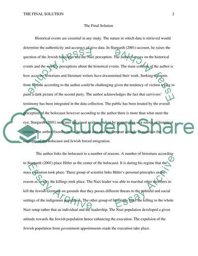 Compulsory Reading: Stargardt, Final Solution File