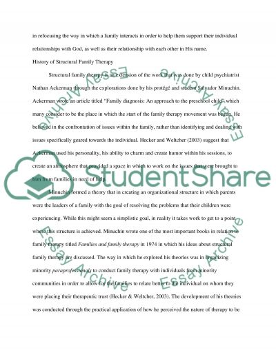 Structural Family Therapy Research Paper Example Topics And Well