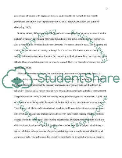 Sensory perceptions essay