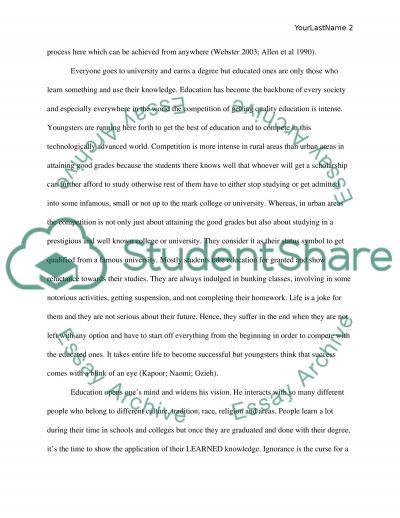 What Does It Mean To Be An Educated Person essay example