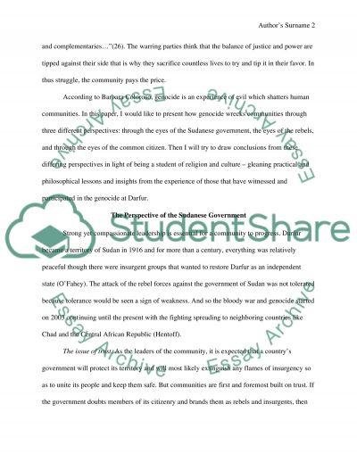 Evil, its symbols and the environment Essay 2 essay example