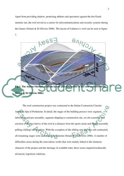 Athens Olympic stadium Case Study example