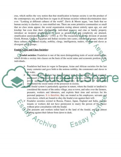 Sociology - Social Stratification