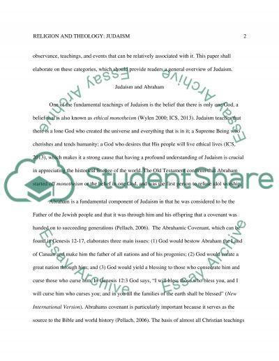 Judaism paper essay example