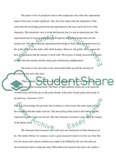 fiction essay over the rocking horse winner example topics and  fiction essay over the rocking horse winner essay example