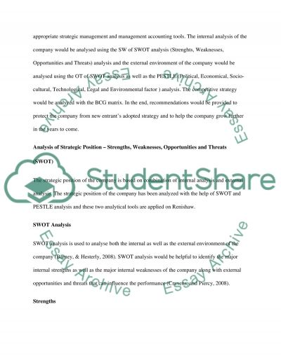 Strategic management accounting Essay example