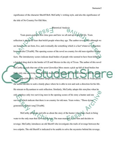 Alice In Wonderland Essay Topics No Country For Old Men And The Poem Sailing To Byzantium Essay On Vincent Van Gogh also Essay On Hero No Country For Old Men And The Poem Sailing To Byzantium Essay Essay Work