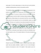 New Product for Saving Water Essay example