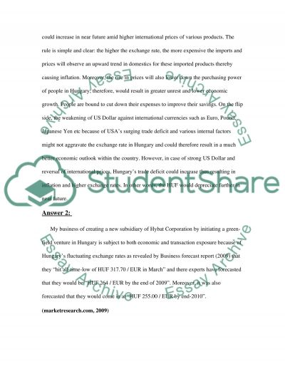 Finance project 2 essay example