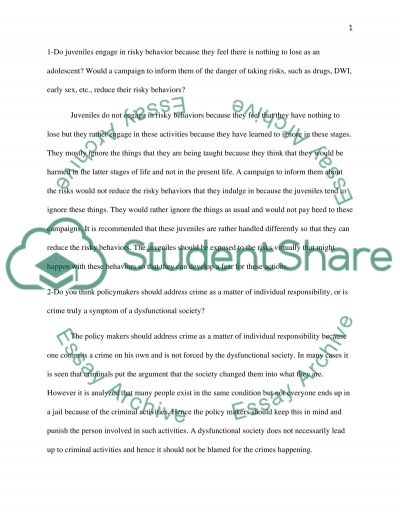 juvenile crime essay example topics and well written essays  juvenile crime essay example