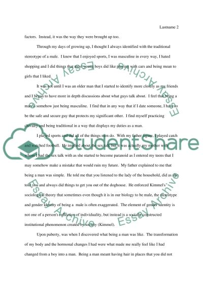 Being a Man Essay essay example