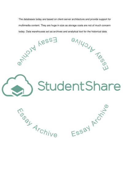 Database Technology essay example