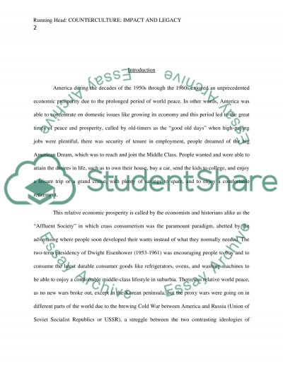 Counterculture: Impact And Legacy essay example