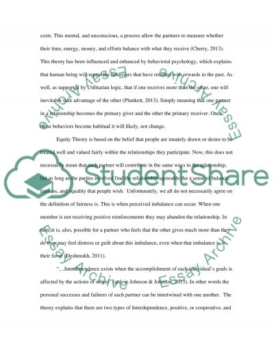 Relationship Analysis Paper essay example