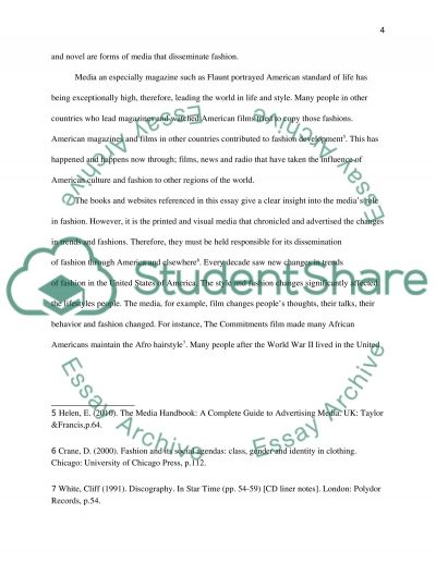 Fashion and style in United States essay example