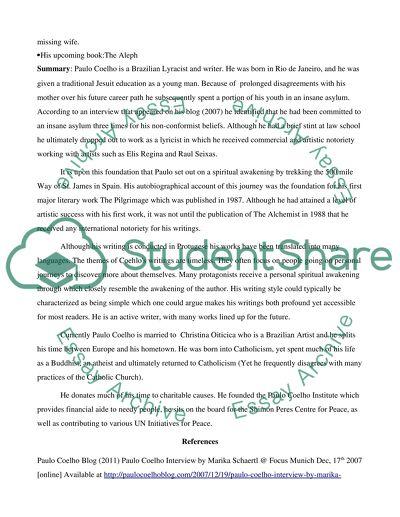 Paulo coelho biography essay relationship rescue homework