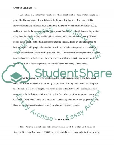 To develop creative solutions to a brief including analysis of effectiveness essay example