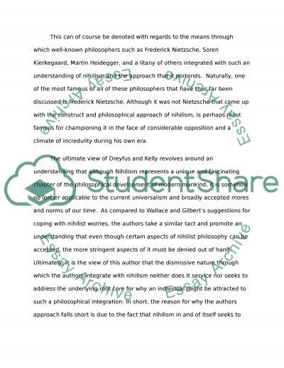 Dreyfus and Kellys Take on Nihilism essay example