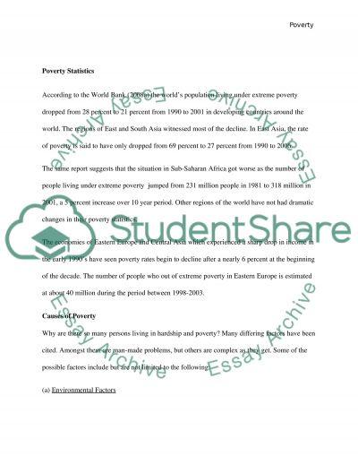 Poverty Essay essay example
