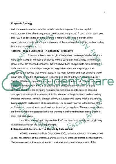 Corporate strategy essay example