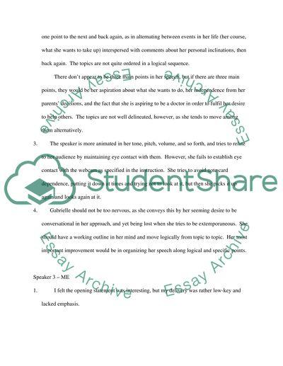 Evaluation Speech Self