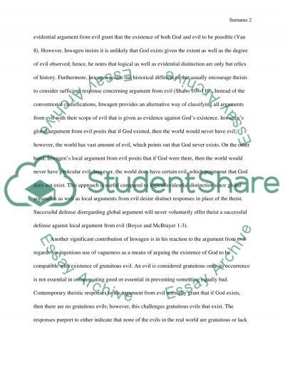EVIL essay example