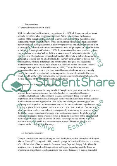 International Business In Focus essay example