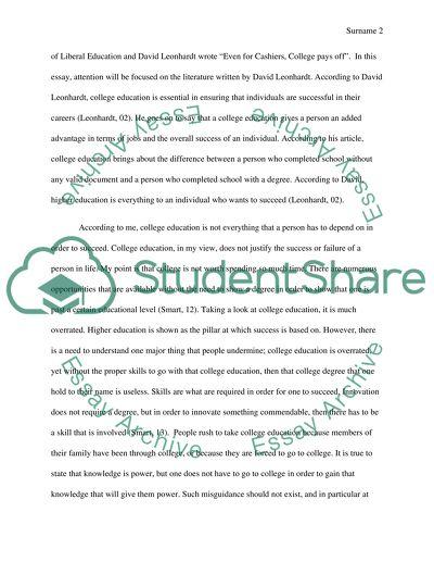 Persuasive/Higher Education