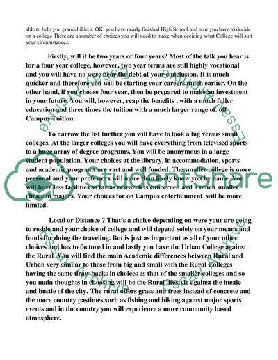 COMPARISON/CONTRAST ESSAY