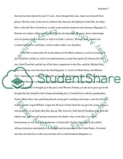 Novel response essay
