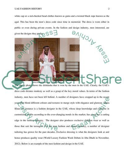UAE Fashion History