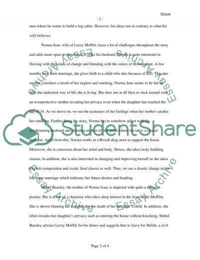 Shiloh by Bobby Ann Mason essay example