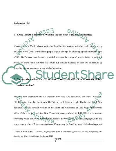 Interpretive exercise essay example
