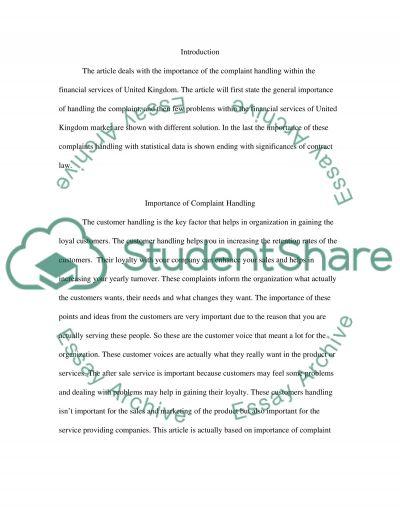 Relationship Marketing (customer handling) essay example