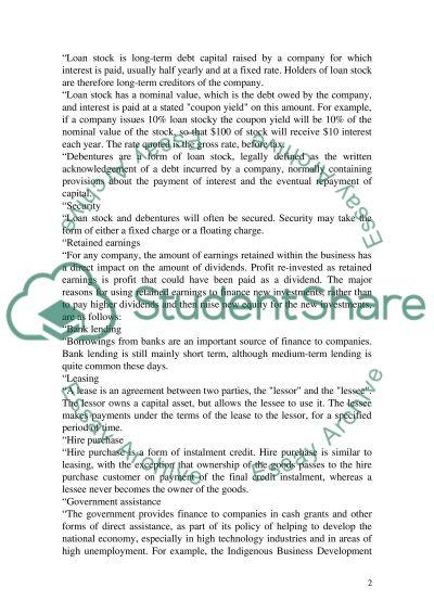 Managing Financial Resources Essay essay example