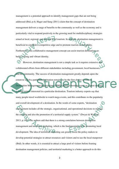 Destination dissertation review