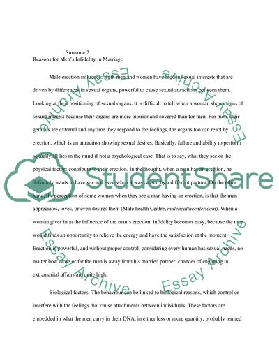 Healthy Mind In A Healthy Body Essay Why Are Men Unfaithful In Marriage Essay Writing On Newspaper also Essay Samples For High School Students Why Are Men Unfaithful In Marriage Essay Example  Topics And Well  First Day Of High School Essay